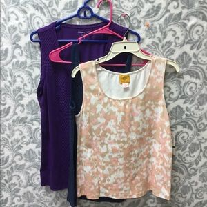 Bundle of three tank tops (2 NWT) size large
